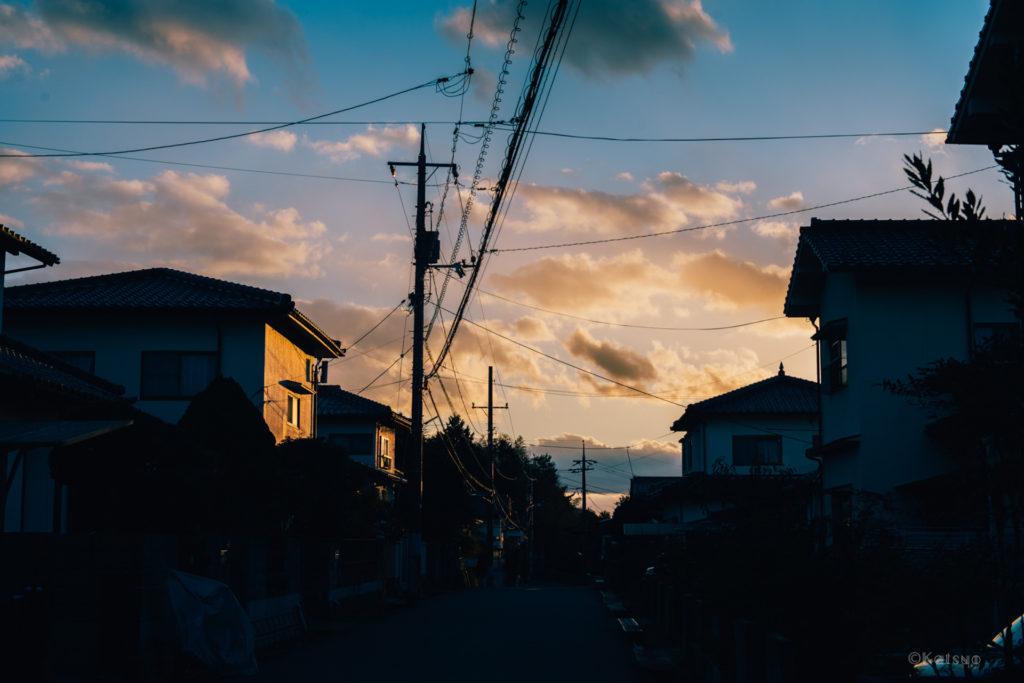 静かな住宅街。【10川上小学校区住民自治協議会】